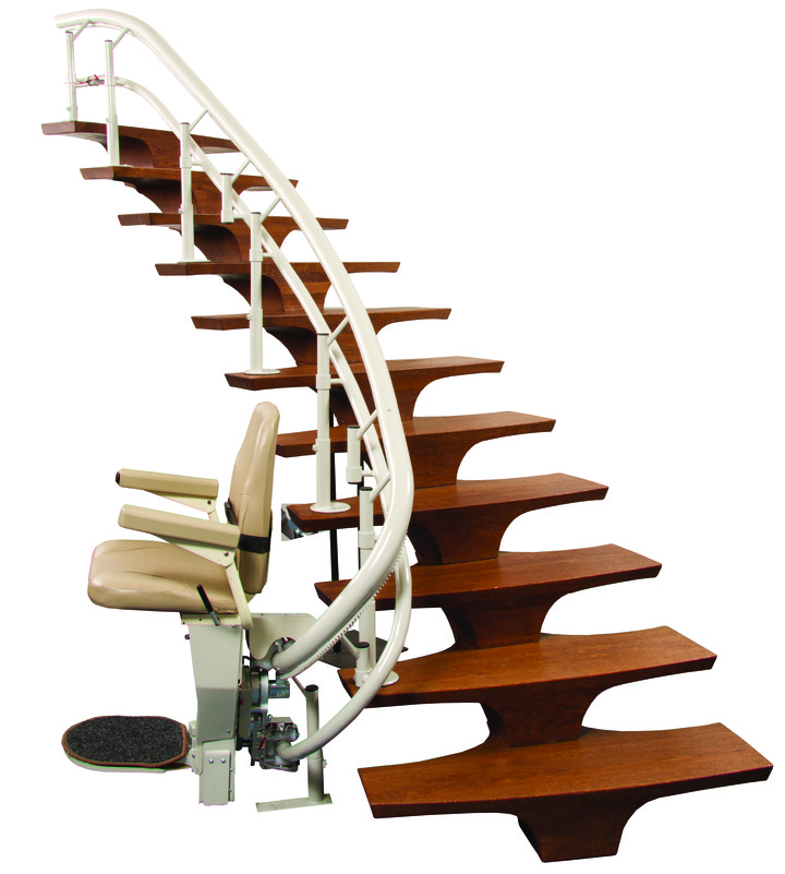 harmar csl500 helix curved stair lift western stair lifts