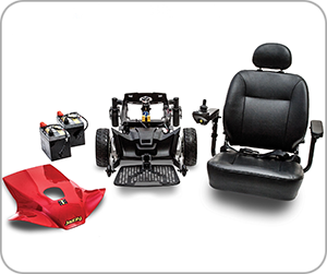 Jazzy Sport Portable - Disassembled