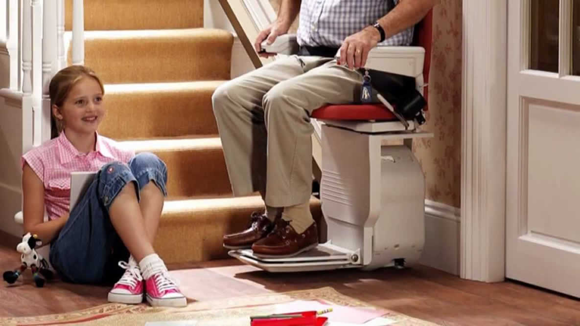An image of a stair lift - wheelchair stair lift concept image