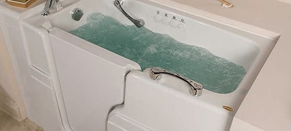 A hydro-therapeutic walk-in-tub