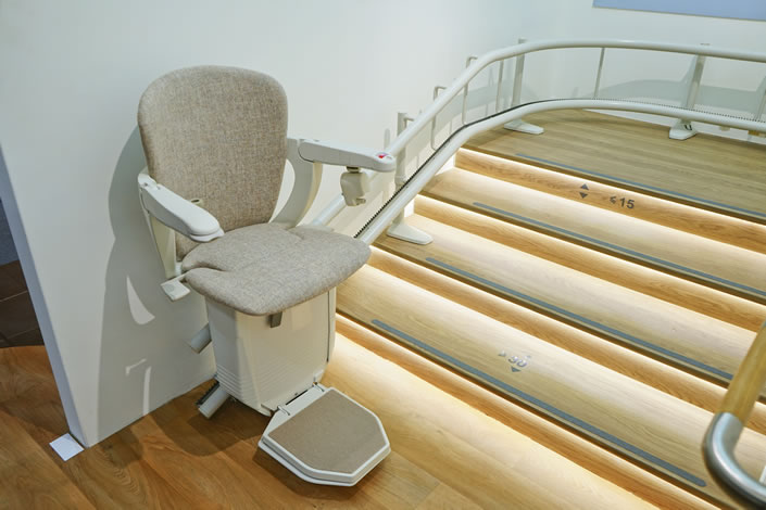 An image of a stairlift - WesternStairlifts.com