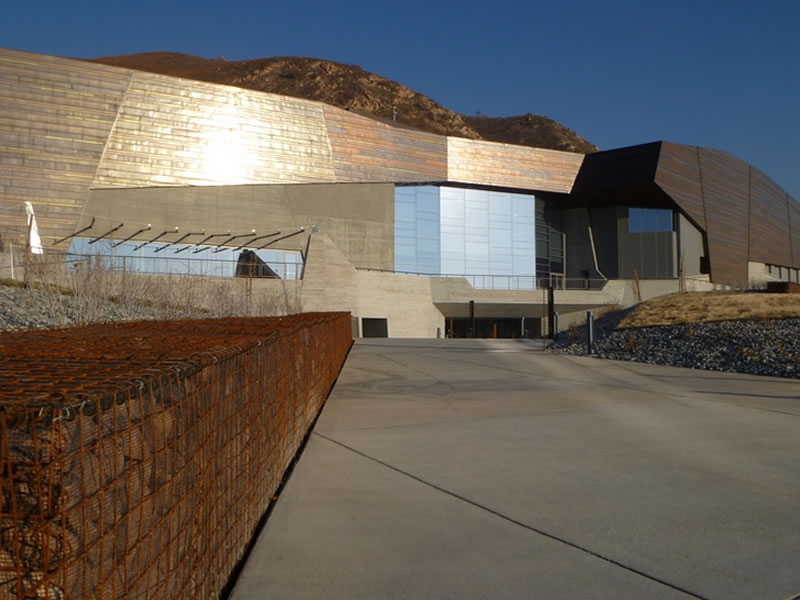 Image of the Museum of Natural History in Utah which mimics the layered rock formations of the area.
